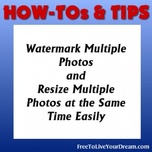 how to add watermark to multiple photos at once