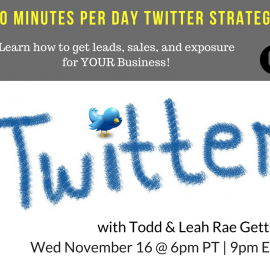 Twitter Clinic To Get Leads And Sales For Your Business – MLSP Wednesday Webinar Training